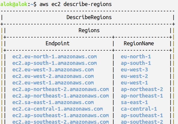 aws cli instalation and configuration