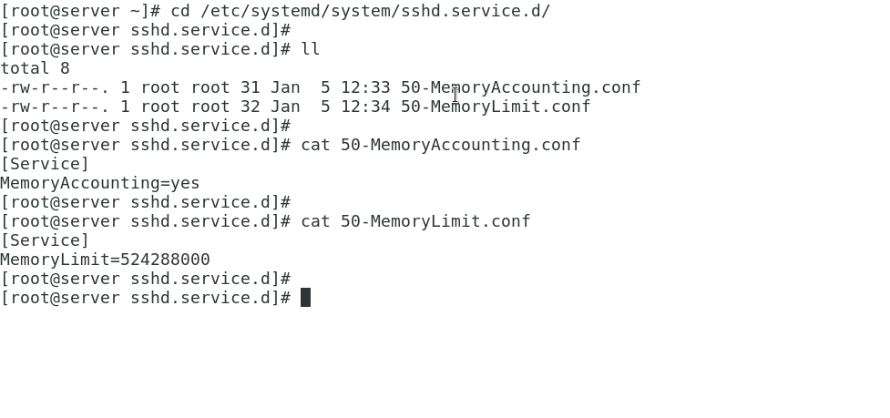 controlling resource limit on services using cgroup
